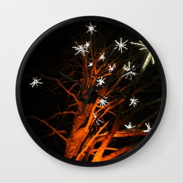 stars in the tree Wall Clock
