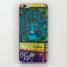 Color Block Peacock iPhone & iPod Skin