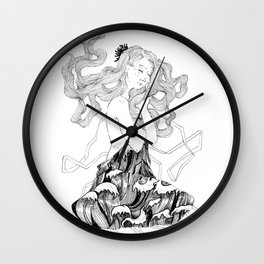 Waves of thoughts Wall Clock