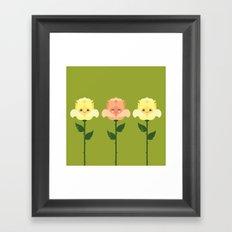 Kawaii Rose Friends  Framed Art Print