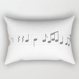 orange sol clef Rectangular Pillow