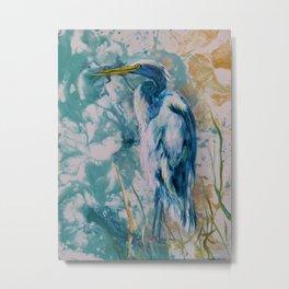 Blue Egret 3 Metal Print