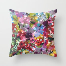 Hummingbird Haven Throw Pillow