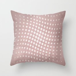 Halftone Flowing Circles in Shell Pink Throw Pillow