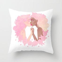Sassy Kisses Throw Pillow