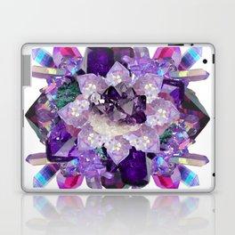 Violet Crystal Explosion Mandala Laptop & iPad Skin