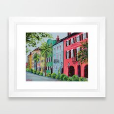 Rainbow Row, Charleston Framed Art Print