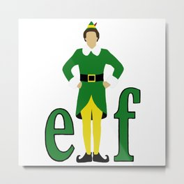 Buddy the Elf Metal Print