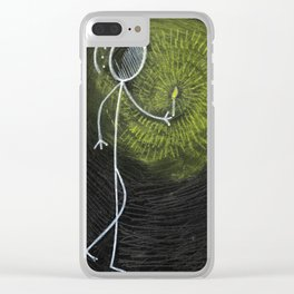 "#cagsticks ""In the dark"" Clear iPhone Case"