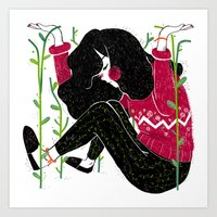 Outgrowing the Comfort Zone Art Print