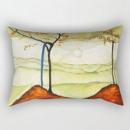 Autumn Sun & Foliage landscape painting by Egon Schiele Rectangular Pillow