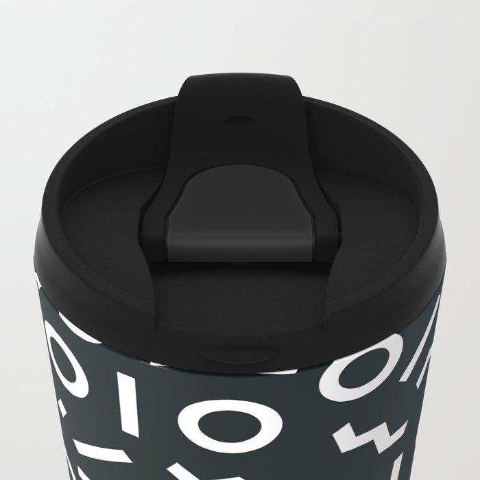 Memphis pattern 50 Metal Travel Mug