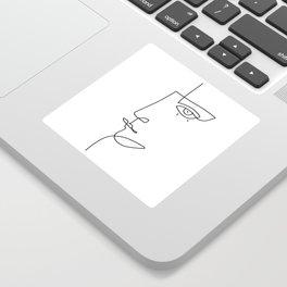 Abstract Face - Line Art Sticker