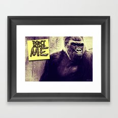 Don't Mind Me Poster Framed Art Print