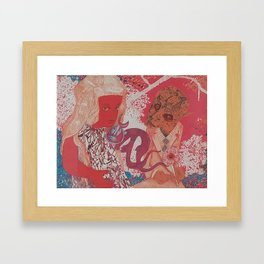 Beautiful Thoughts and Bristling Dragons Framed Art Print
