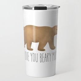 I Love You Beary Much Travel Mug