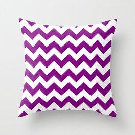 Chevron (Purple/White) Throw Pillow