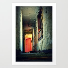 Down the hall Art Print