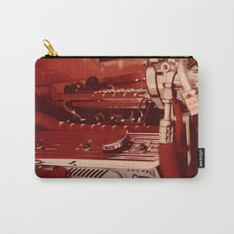 Car Motor in Red Carry-All Pouch