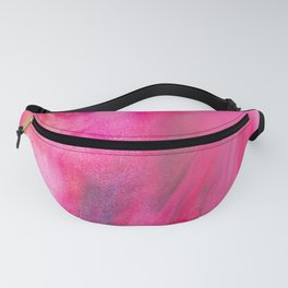 Hot Pink Watercolor Fanny Pack