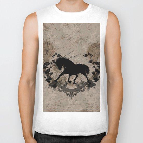 Horse silhouette Biker Tank