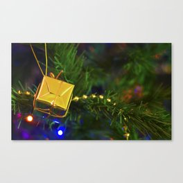 Christmas Gold Tree Decoration Canvas Print