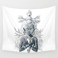 luna Wall Tapestries featuring Luna by Freeminds