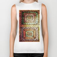 quilt Biker Tanks featuring Ancient Quilt by Robin Curtiss