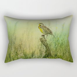The Meadow Lark Sings Rectangular Pillow