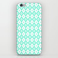 valar morghulis iPhone & iPod Skins featuring Cyan Diamonds by beatrice