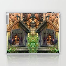 Ancient forest worker monument | architectural photography Laptop & iPad Skin