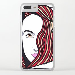 Carrie the Artist Clear iPhone Case