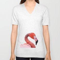 Geometrical - Flamingo Unisex V-Neck