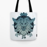 leo Tote Bags featuring leo by andrahilde