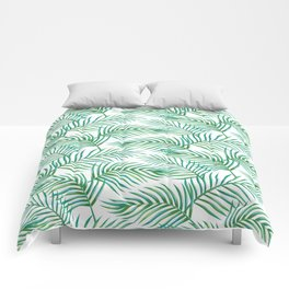 Palm Leaves_Bg White Comforters