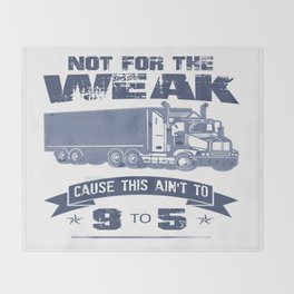 TRUCKER DRIVER Throw Blanket