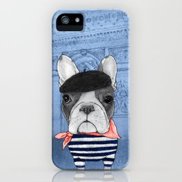 Frenchie with Arc de Triomphe iPhone Case