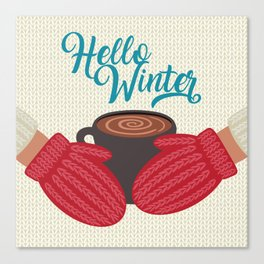 Hello, Winter Canvas Print