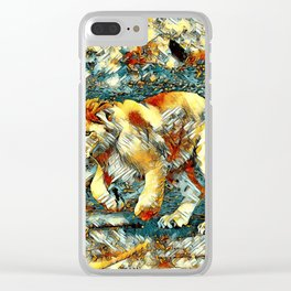 AnimalArt_Lion_20171010_by_JAMColors Clear iPhone Case