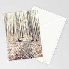 walking through the last days of autumn Stationery Cards