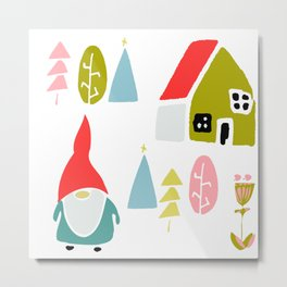 Christmas gnome Metal Print