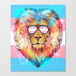 Trans Lion Pride Canvas Print