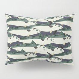 Mackerel fish close up Pillow Sham