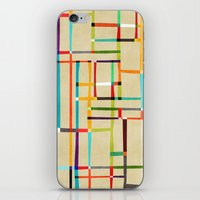 mondrian iPhone & iPod Skins featuring The map (after Mondrian) by Picomodi