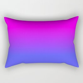 Neon Blue and Hot Pink Ombré Shade Color Fade Rectangular Pillow
