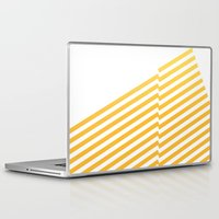 bands Laptop & iPad Skins featuring Yellow bands by blacknote