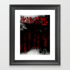 HorrorVille b-movie poster Framed Art Print