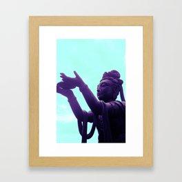 Big Buddha Framed Art Print
