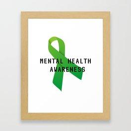 Mental Health Awareness Framed Art Print