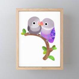 Lovebird - dark Framed Mini Art Print